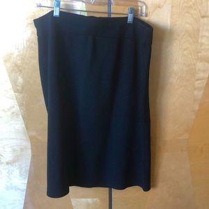 Eileen Fisher silk blend black skirt sz L